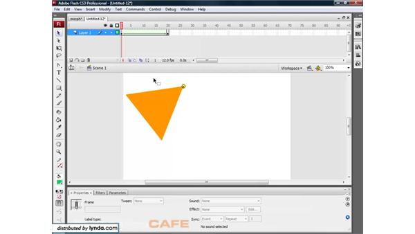 Shape tweening and shape hints: Flash CS3 for Designers