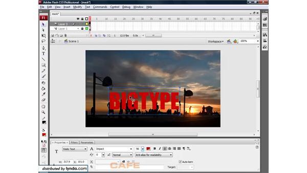 Animation masks: Flash CS3 for Designers