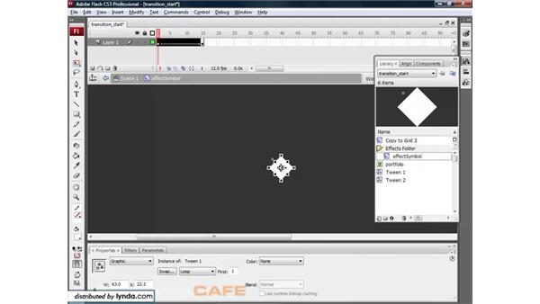 Timeline effects: Flash CS3 for Designers