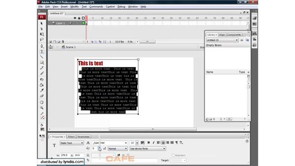 Working with text: Flash CS3 for Designers