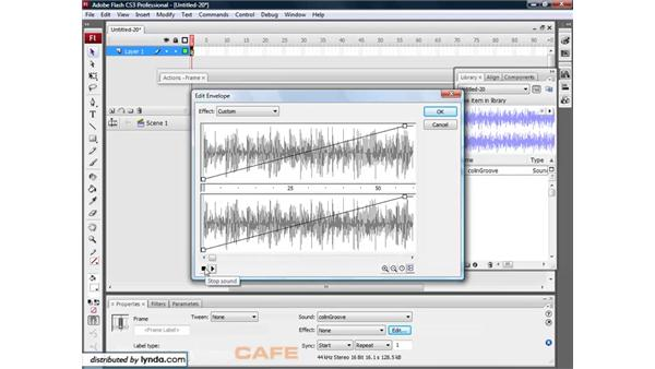Editing sound: Flash CS3 for Designers