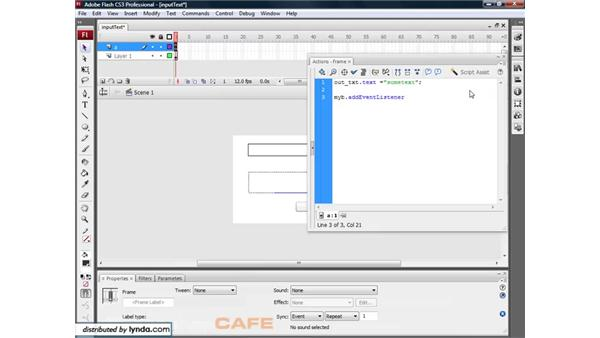 Inputting text: Flash CS3 for Designers