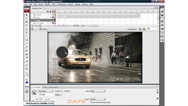Draggable movie clips: Flash CS3 for Designers