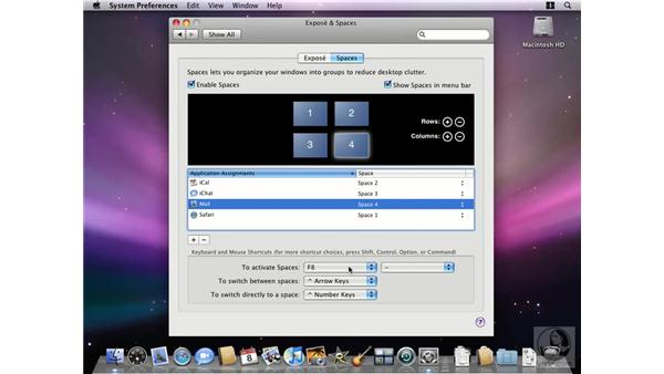Using Spaces: Mac OS X 10.5 Leopard New Features