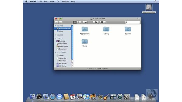 Getting familiar with the Apple mouse and keyboard: Mac OS X 10.5 Leopard Essential Training