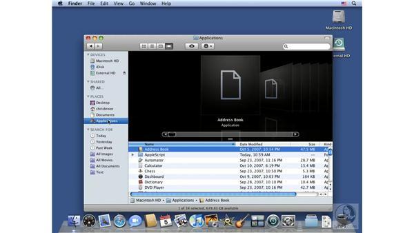Creating Smart Folders: Mac OS X 10.5 Leopard Essential Training