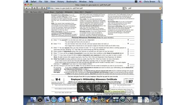 Viewing PDFs: Mac OS X 10.5 Leopard Essential Training