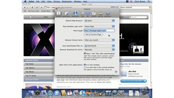 Configuring Safari Preferences: Mac OS X 10.5 Leopard Essential Training