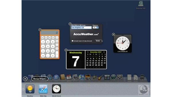 Working with Dashboard widgets: Mac OS X 10.5 Leopard Essential Training