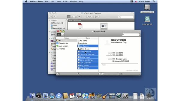 Address Book tips and tricks: Mac OS X 10.5 Leopard Essential Training