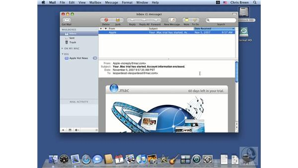 Introduction to Mail: Mac OS X 10.5 Leopard Essential Training