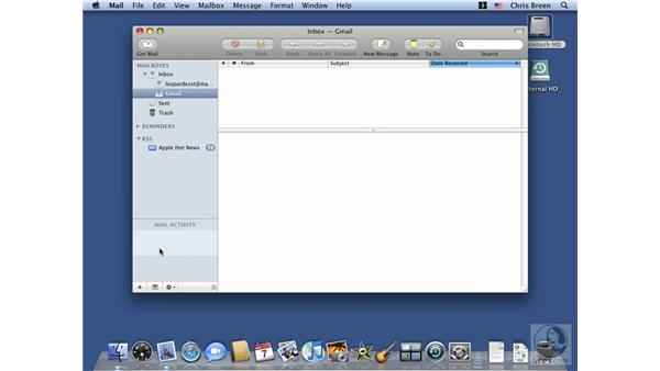 Sending and receiving email: Mac OS X 10.5 Leopard Essential Training