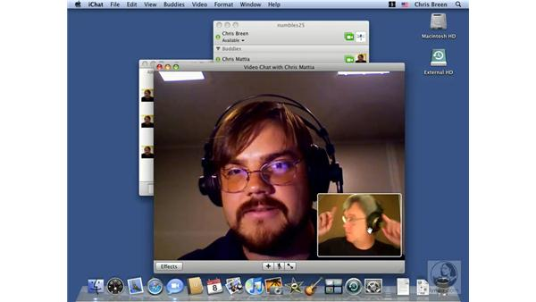 Text, audio, and video chatting: Mac OS X 10.5 Leopard Essential Training