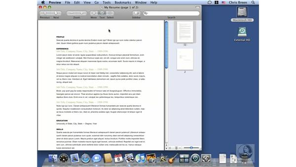 Sharing files with iChat Theater: Mac OS X 10.5 Leopard Essential Training