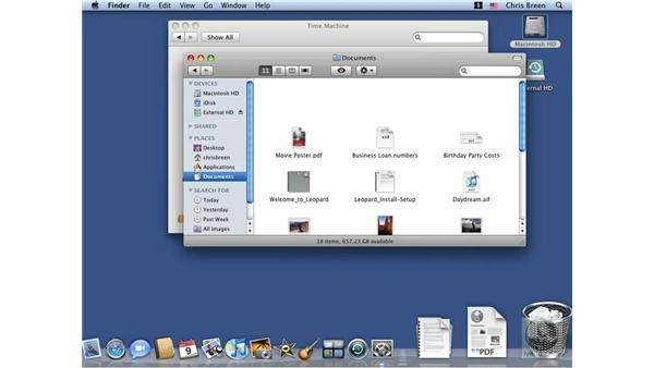 Using Time Machine: Mac OS X 10.5 Leopard Essential Training
