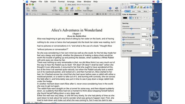 Formatting paragraphs: Pages '08 Essential Training