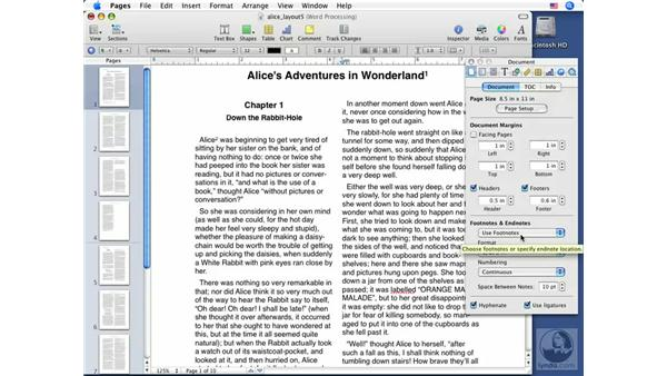 Adding footnotes and endnotes: Pages '08 Essential Training