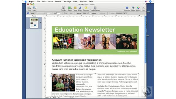 Template layouts: Pages '08 Essential Training
