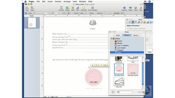 In-line and floating objects: Pages '08 Essential Training