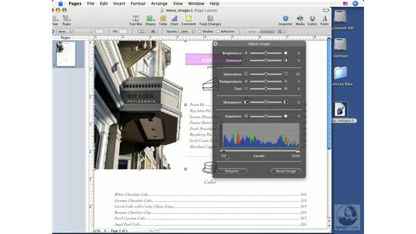 Adjusting images: Pages '08 Essential Training