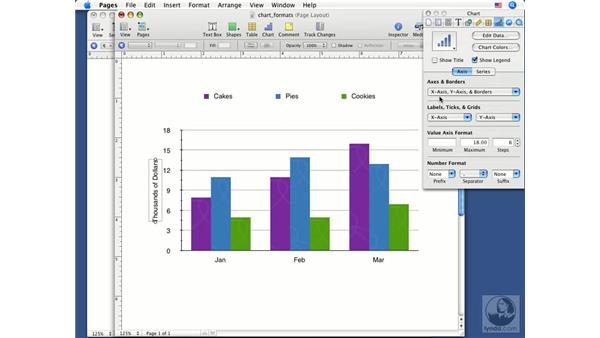 Formatting charts: Pages '08 Essential Training
