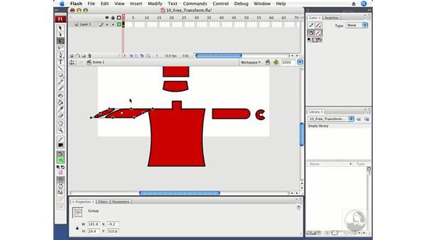 Using the Free Transform tool: Flash CS3 Professional Fundamentals