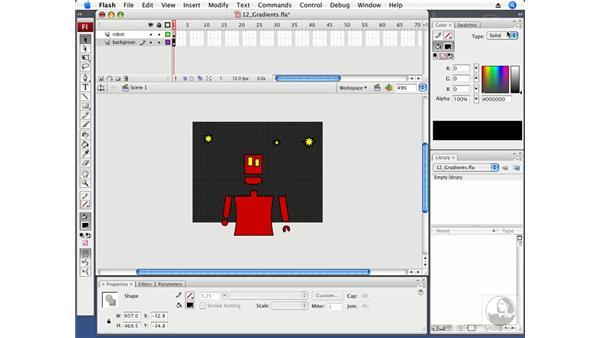 Creating gradients: Flash CS3 Professional Fundamentals