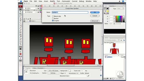 Creating graphic symbols: Flash CS3 Professional Fundamentals