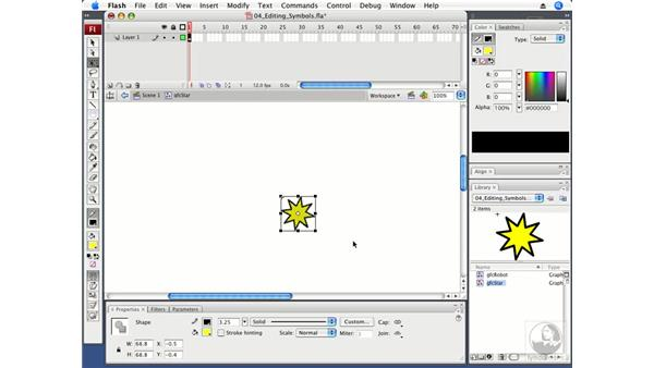 Editing symbols: Flash CS3 Professional Fundamentals