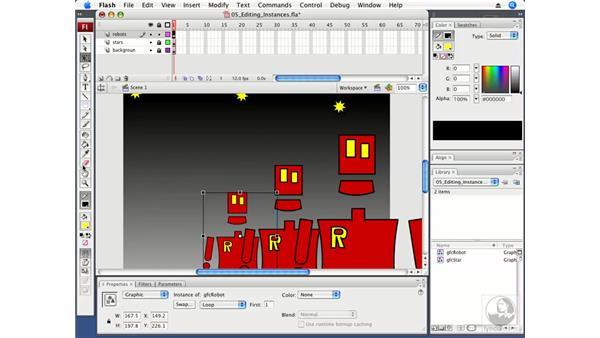 Editing symbol instances: Flash CS3 Professional Fundamentals