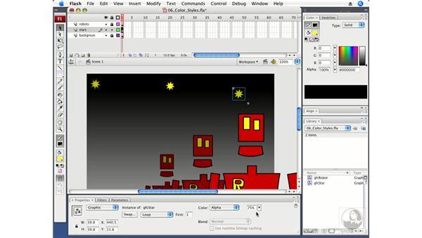 Using color styles: Flash CS3 Professional Fundamentals