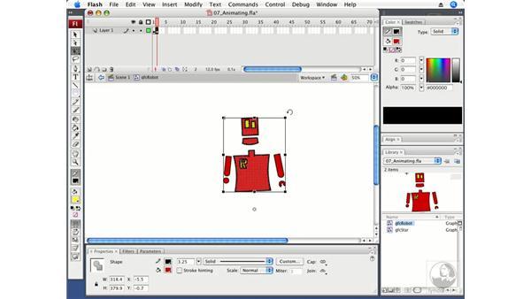 Animating graphic symbols: Flash CS3 Professional Fundamentals