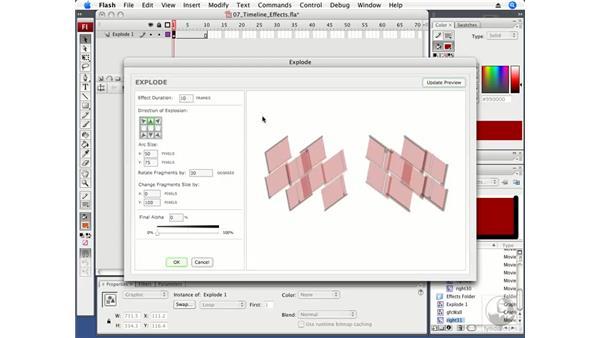Using timeline effects: Flash CS3 Professional Fundamentals