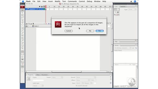 Importing bitmap sequences: Flash CS3 Professional Fundamentals
