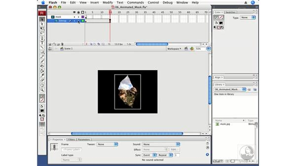 Using animated masks: Flash CS3 Professional Fundamentals