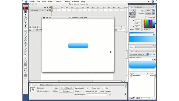 Understanding button states: Flash CS3 Professional Fundamentals