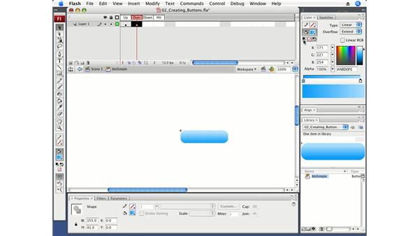 Creating rollover buttons: Flash CS3 Professional Fundamentals