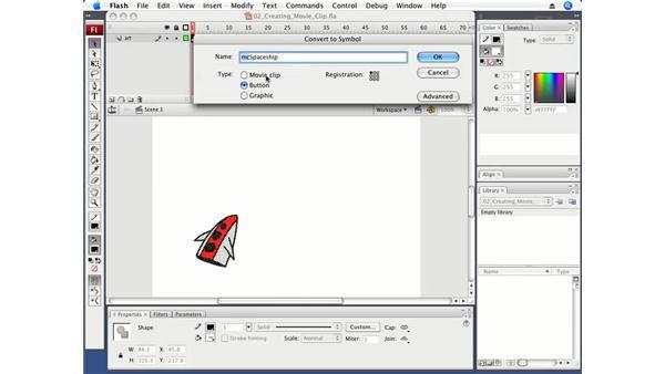 Creating a MovieClip: Flash CS3 Professional Fundamentals