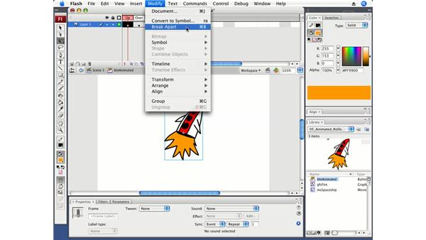 Creating an animated rollover button: Flash CS3 Professional Fundamentals