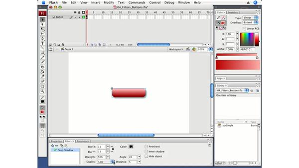 Applying a filter to a button: Flash CS3 Professional Fundamentals