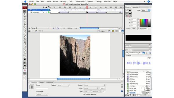 Synchronizing sound to narration cues: Flash CS3 Professional Fundamentals