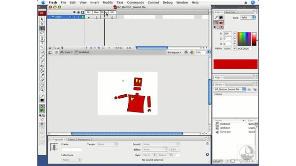 Adding sound to buttons: Flash CS3 Professional Fundamentals