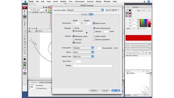 Exporting an animated GIF: Flash CS3 Professional Fundamentals