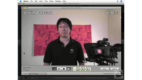 Importing from a tape-based camera: iMovie '08 Essential Training