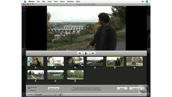 Importing from a tapeless camera: iMovie '08 Essential Training
