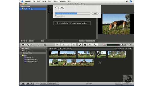 Importing from a location on your Mac: iMovie '08 Essential Training