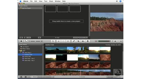 Interface overview: iMovie '08 Essential Training