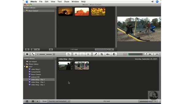Organizing events: iMovie '08 Essential Training