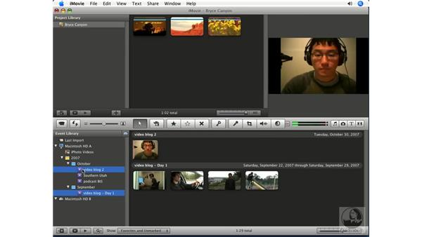 Moving events to a different hard drive: iMovie '08 Essential Training