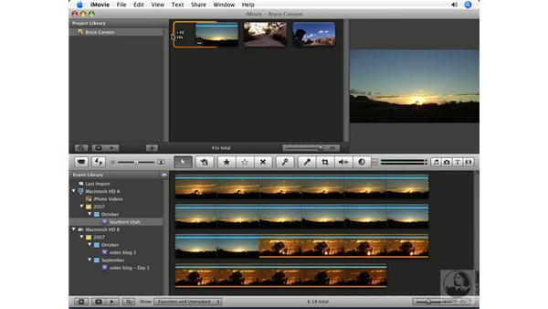 Fine-tuning clips: iMovie '08 Essential Training